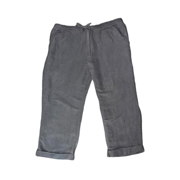 Cubavera Mens Linen Ankle Knickers Pants XL